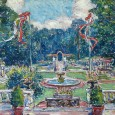Gifford Beal's painting of a summer party at Echo Lawn. Image: Liz Bowman.