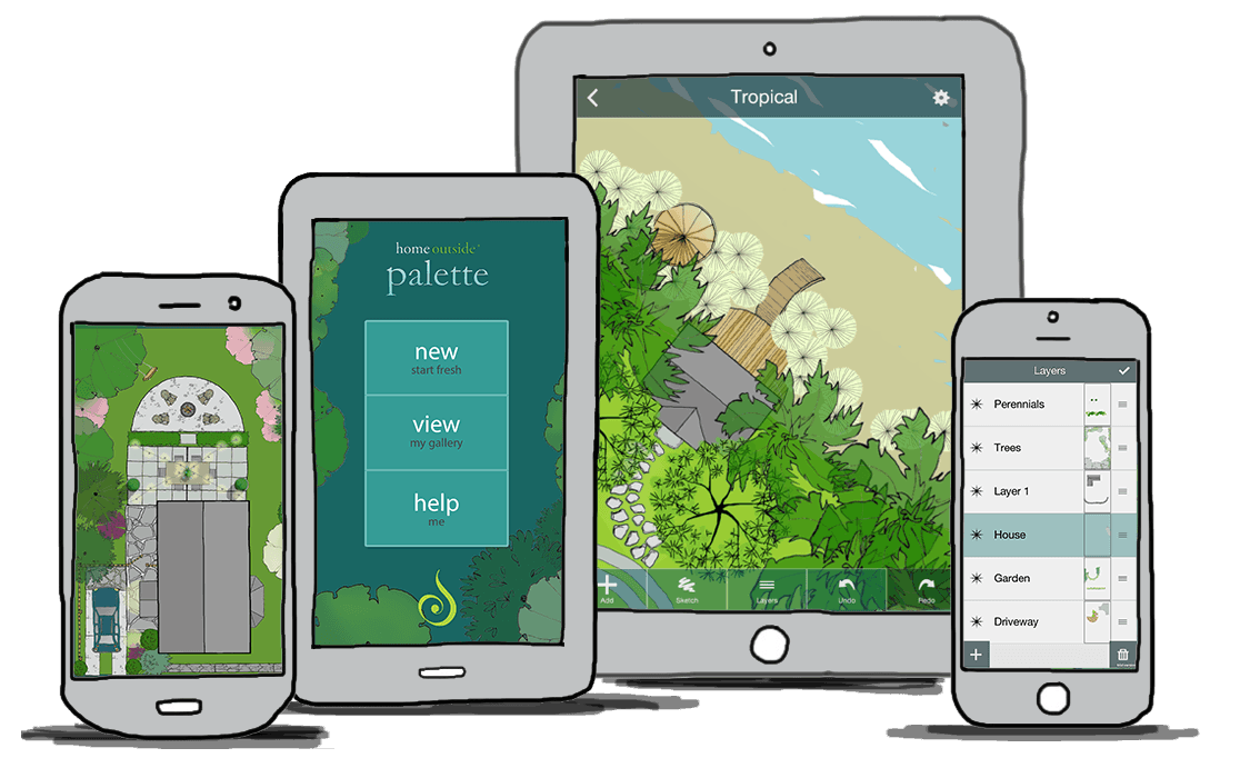 Home Outside Palette: Landscape design app for anyone, anywhere
