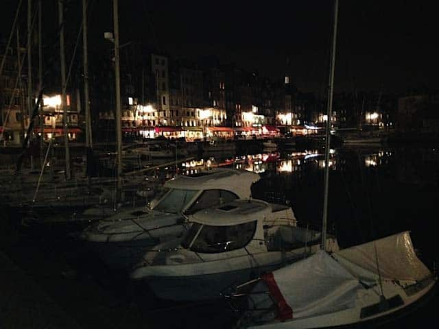 Boats docked at Honfleur