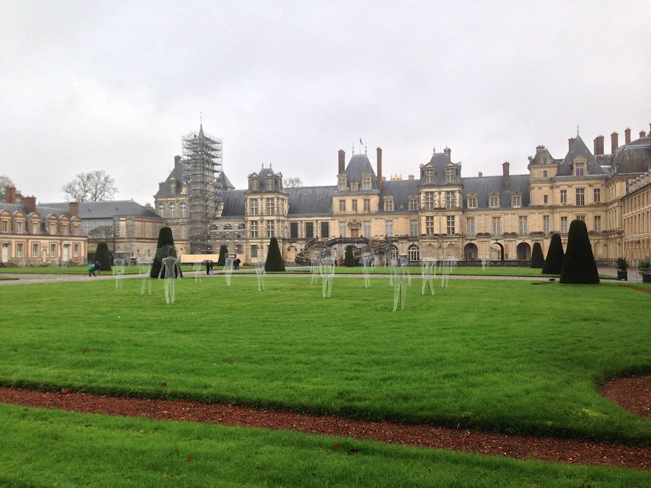 Art installation at Fontainebleau chateau